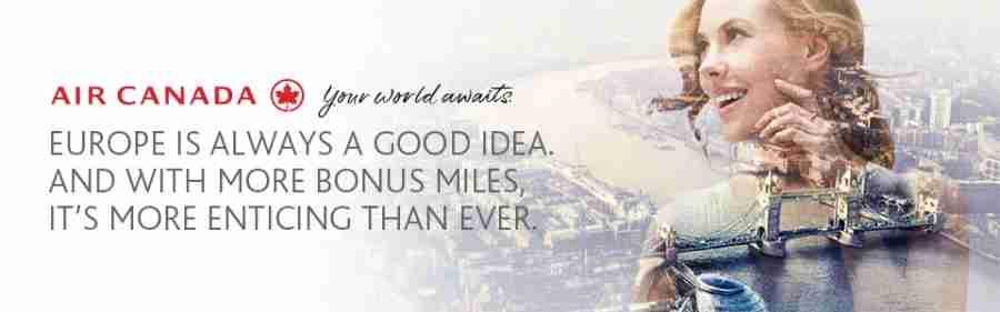 Earn bonus Aeroplan miles