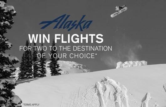 Win an Alaska Air flight and snowboarding gear