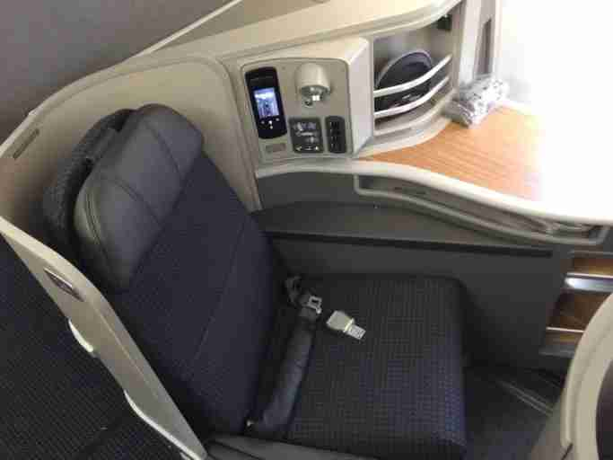 American flies the A321 between JFK-LAX with lie-flat seats in First Class.