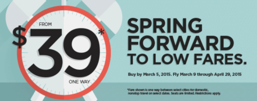 Frontier is having a fare sale with flights for $39 each way.