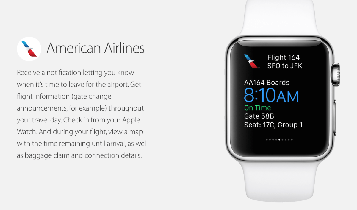 With the Apple Watch, you