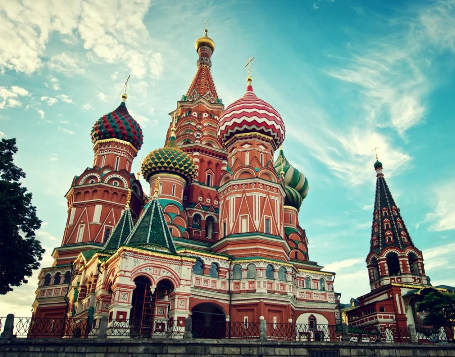 St. Basil's Cathedral in Moscow. Photo courtesy of Shutterstock