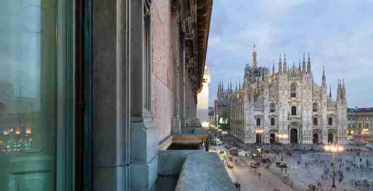 View of the Duomo from the TownHouse Duomo Hotel. Courtesy of TownHouse Duomo