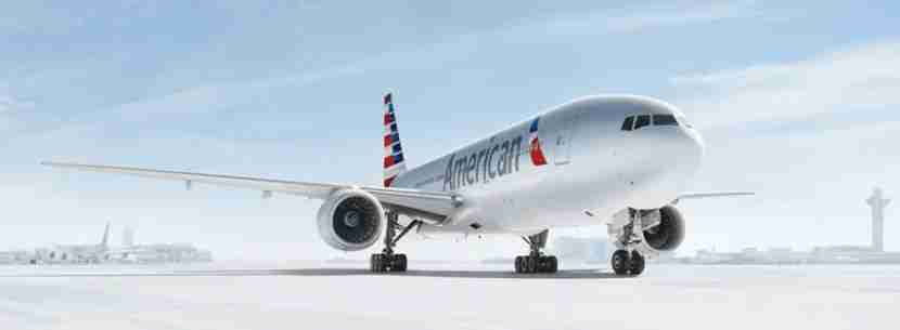 American Airlines plane on ground