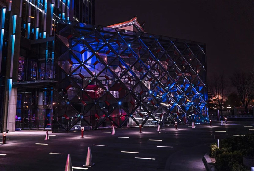 The W Beijing-Chang-An at night.