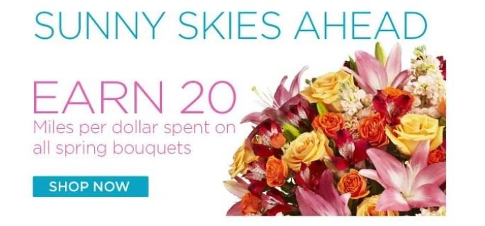Earn 20 Delta SkyMiles per $1 spent at FTD.com