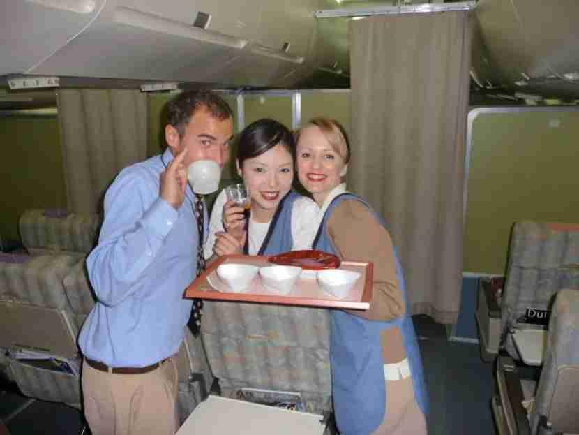 Flight attendant training isn