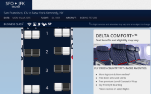 Delta SFO-JFK seat map 1
