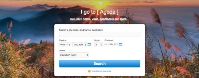 Agoda is a hotel-only site with over 625,000 properties from which you can choose.