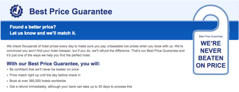 Using Hotel Best Rate Guarantees From Online Travel Agencies
