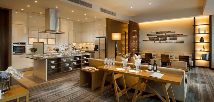 The Executive Lounge spread at the Conrad Tokyo.