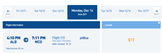 JetBlue is launching new routes from Albany by offering $17 fares.