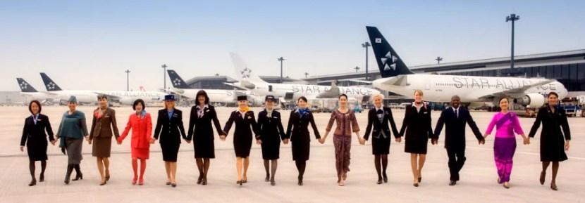 Star Alliance member airlines crew