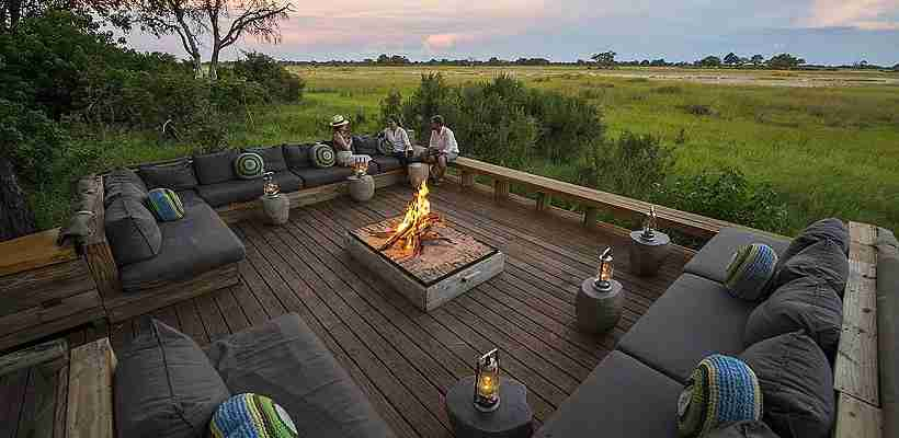 Botswana has also seen a boom in luxury safari lodges like Vumbura Plains in the Okavango Delta. Photo courtesy of Vumbura Plains.