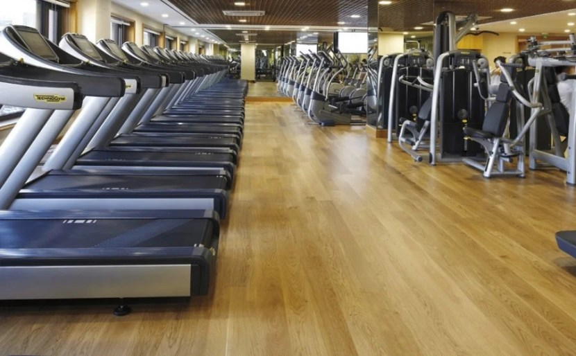 Plenty of equipment in the gym, even if it seemed a little crammed together.