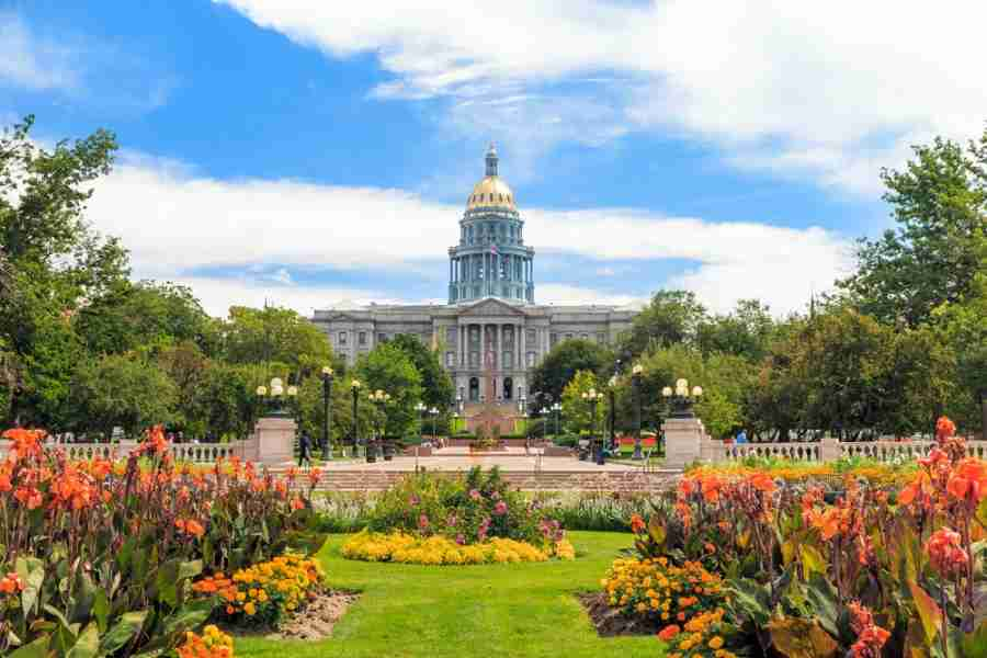 The beautiful Colorado State Capitol building. Photo courtesy of f11photo via Shutterstock