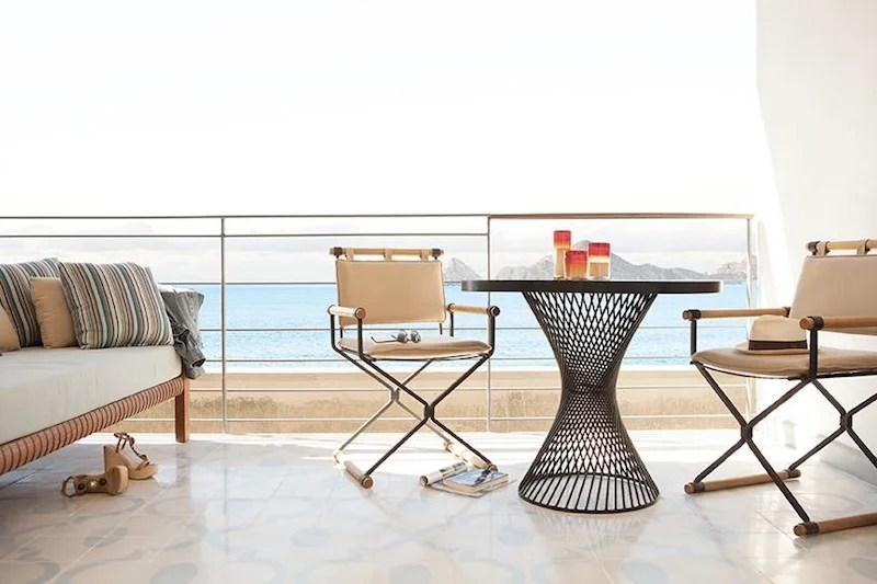 The rooftop desk at the Cape's penthouse.