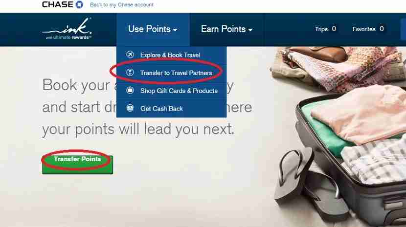 The ability to transfer Ultimate Rewards points to Chase