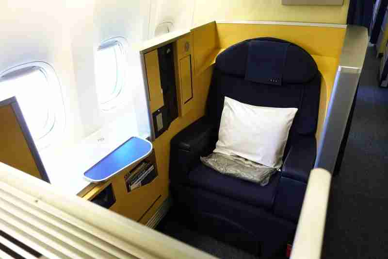 A first-class seat on ANA