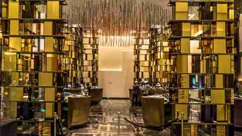 The elegant lobby of the W Guangzhou.