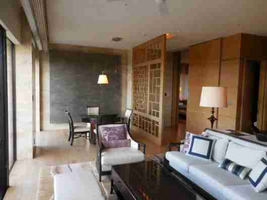 Presidential Suite living area.