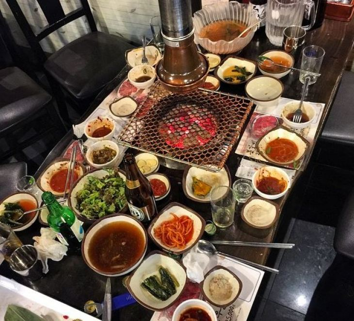 Make sure to eat some delicious Korean BBQ during your layover!