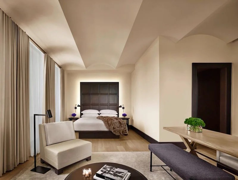 A guest room at The New York EDITION, bringing boutique concepts into full-service lifestyle hotels.