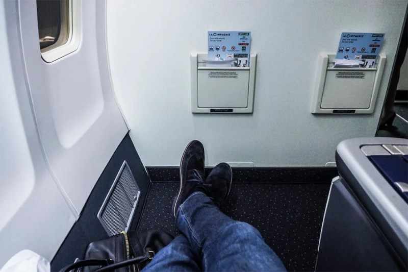 I had plenty of leg room in seat 2A.
