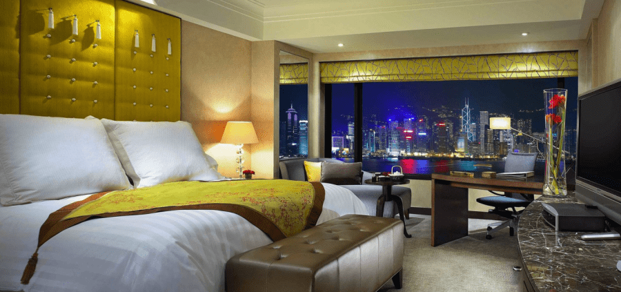 Soak up the vistas from your Harbourview Room at the InterContinental Hong Kong