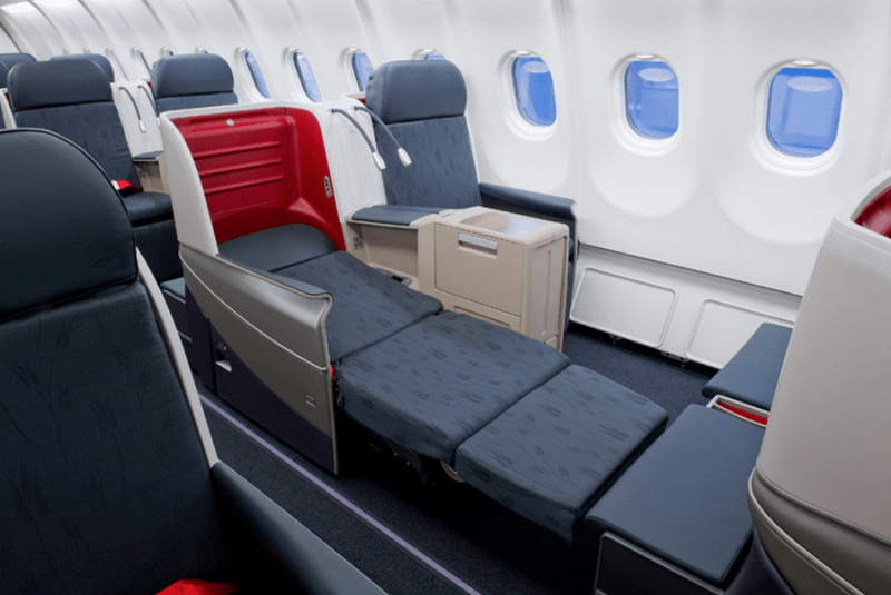 Turkish Airlines business-class seats are plentiful and fully lie-flat.