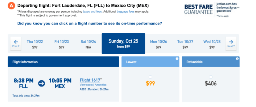 Book today or tomorrow to get the introductory fare of $99 one-way.