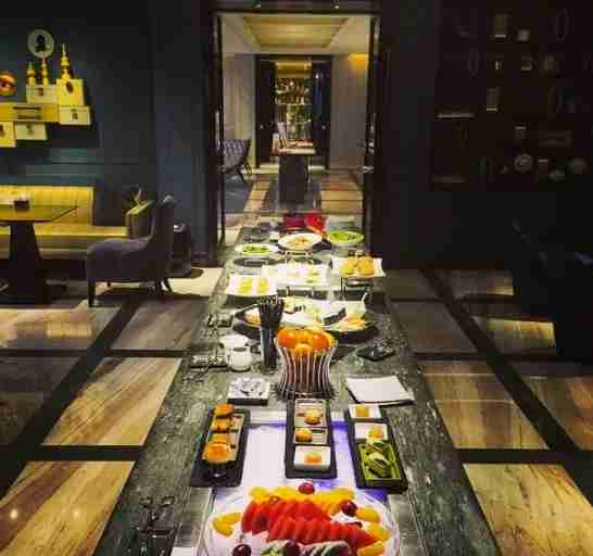 The W Lounge in Guangzhou, China. Way better than any other US lounge spread!