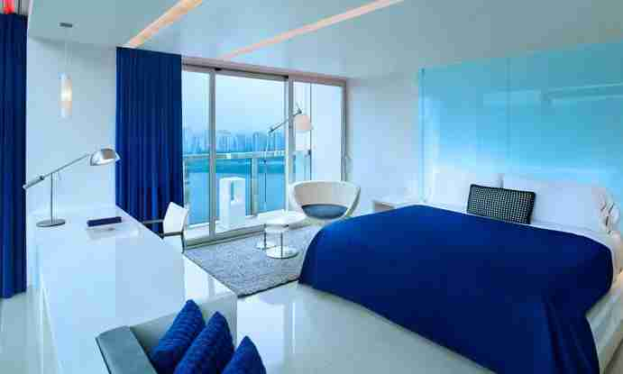 A guestroom with a view at the W Seoul Walkerhill