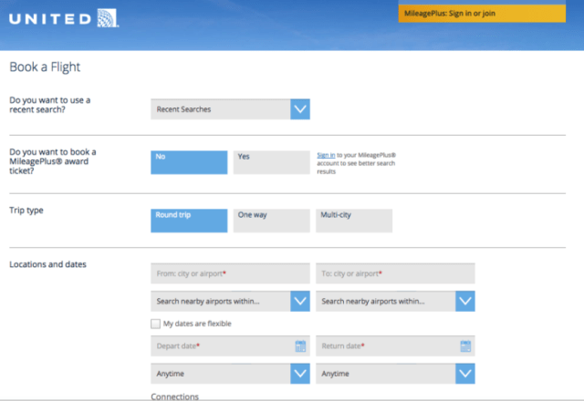The new booking page is extremely easy to use