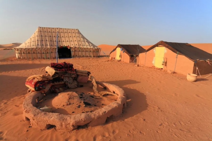 Why not camp in style in the Sahara? Photo courtesy of Shutterstock.