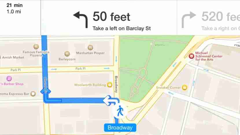 More detailed directions load automatically on your iPhone.