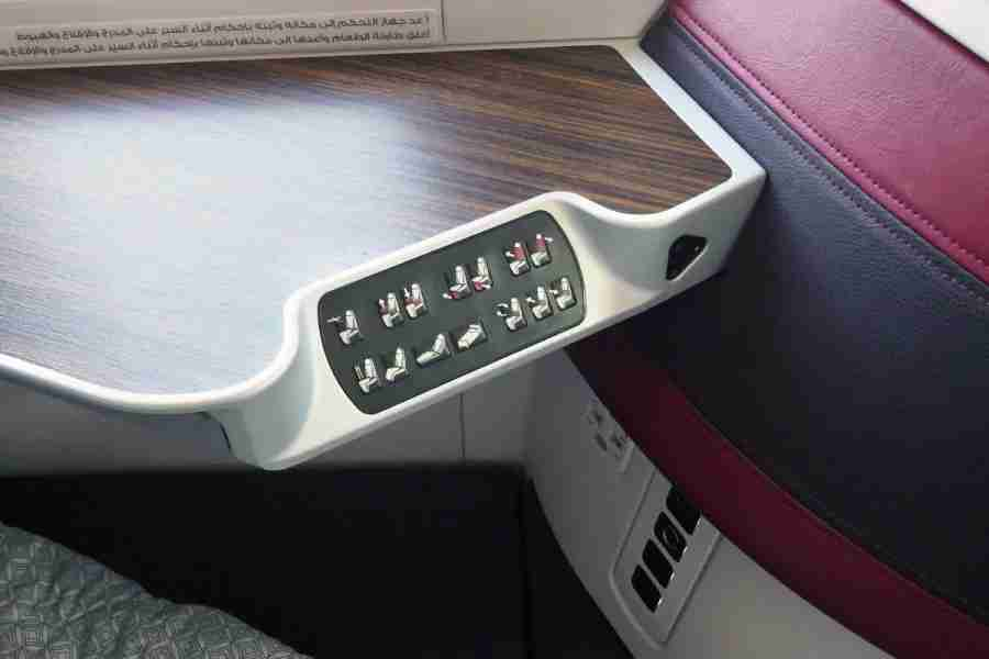 With many controls, you can position your seat just the way you like. Power and USB ports are located just below.