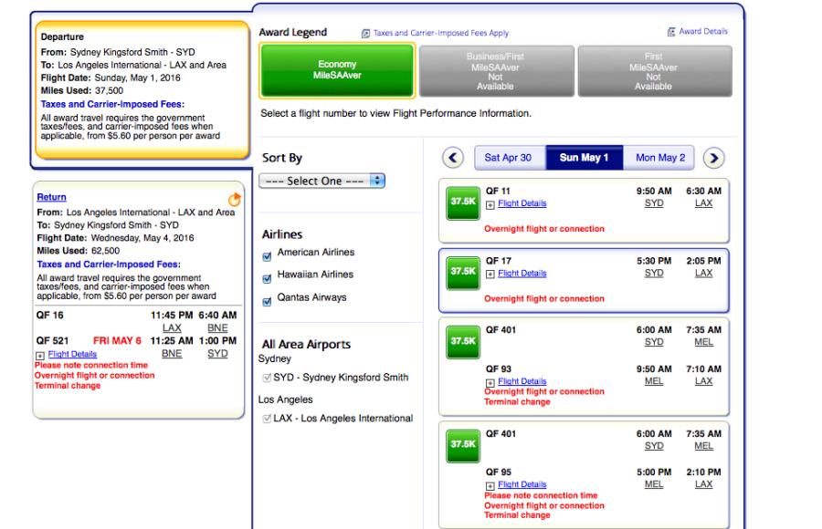 Flexible dates flights in Australia
