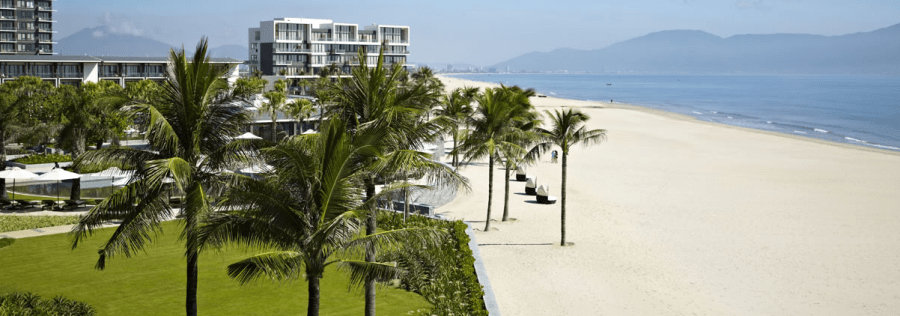 The expansive beach at the Hyatt Regency Danang Resort & Spa