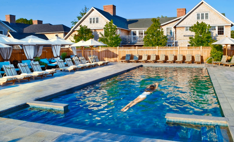 The heated pool at Nantucket