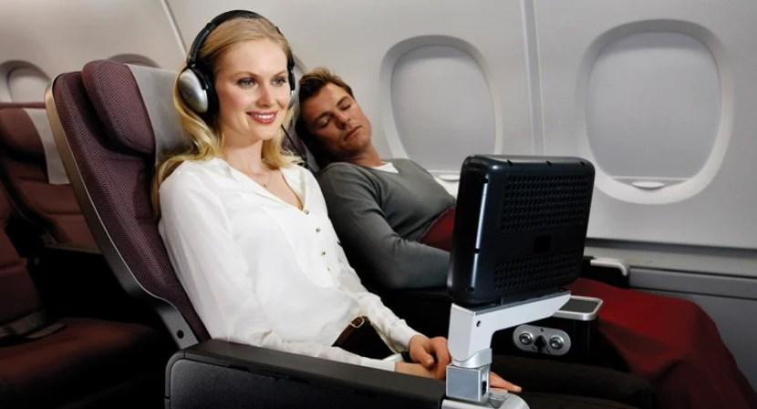 Qantas's premium economy is roomier and has better amenities.