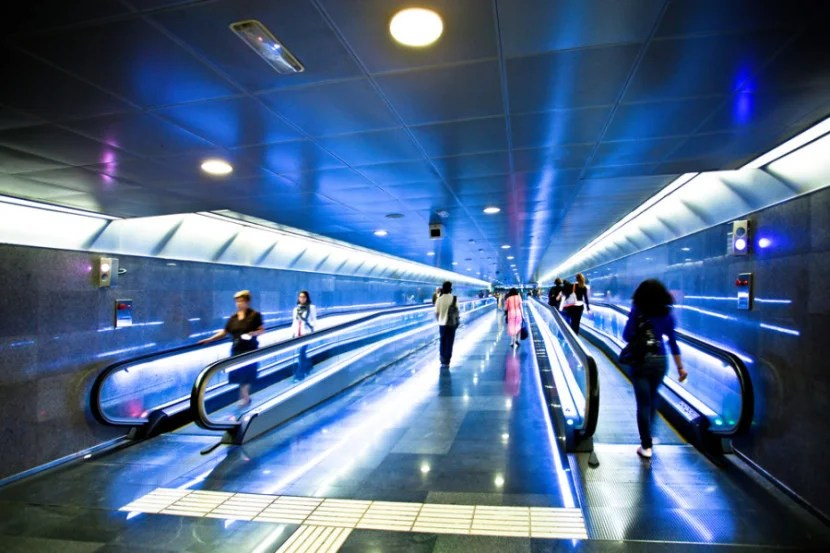 People movers make it easy — and cool — to get around Barcelona's airport. Photo by Shutterstock.