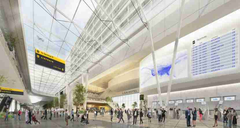 The new unified terminal at LaGuardia is expected to provide much-needed space for security and check-in operations.