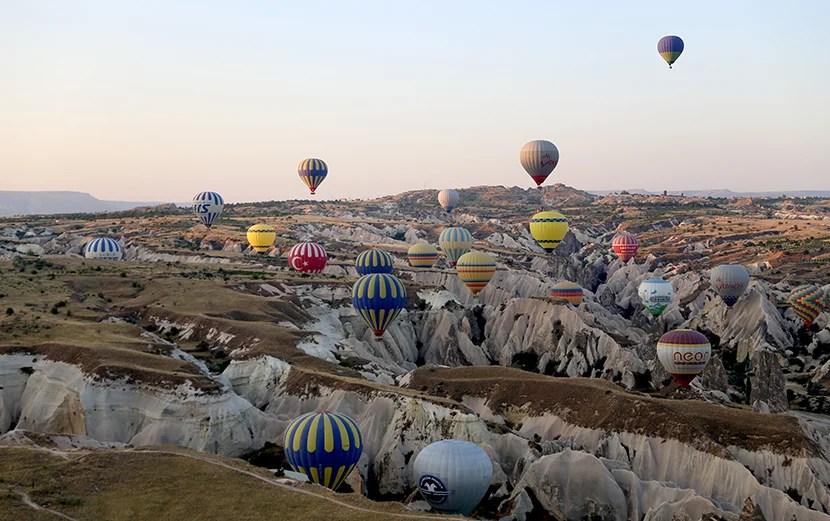hot air balloon ride cappadocia turkey
