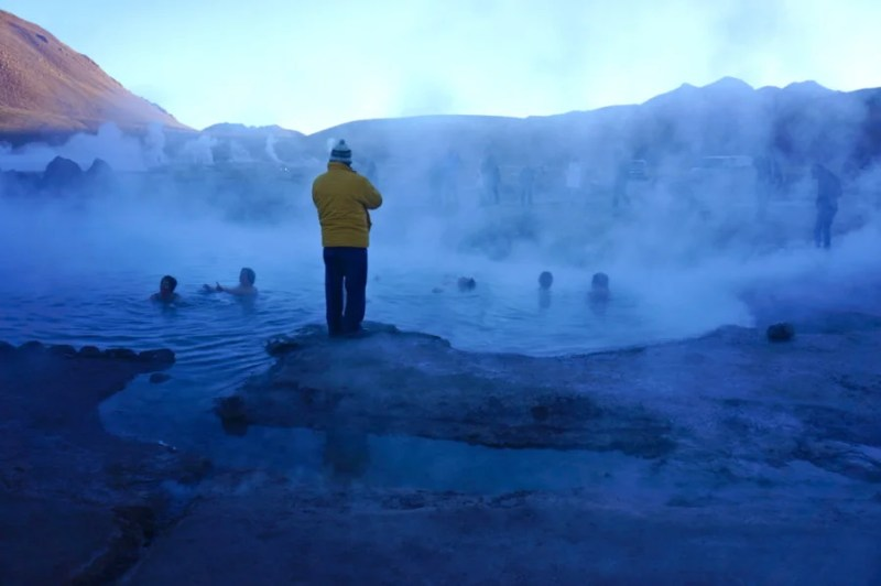 If you're feeling brave, bring along a swimsuit and hop in El Tatio's well-marked hot springs.
