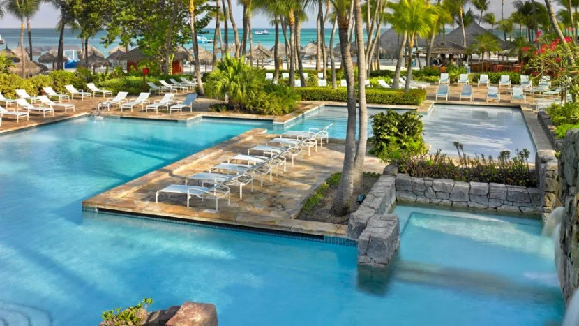 Consider staying at the Hyatt Regency Aruba Resort Spa & Casino