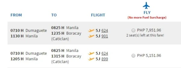 5151.96 PHP seems like a great deal... until I add 5200 PHP in luggage fees!