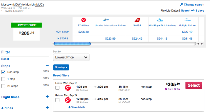 Just $205 to fly to Munich.