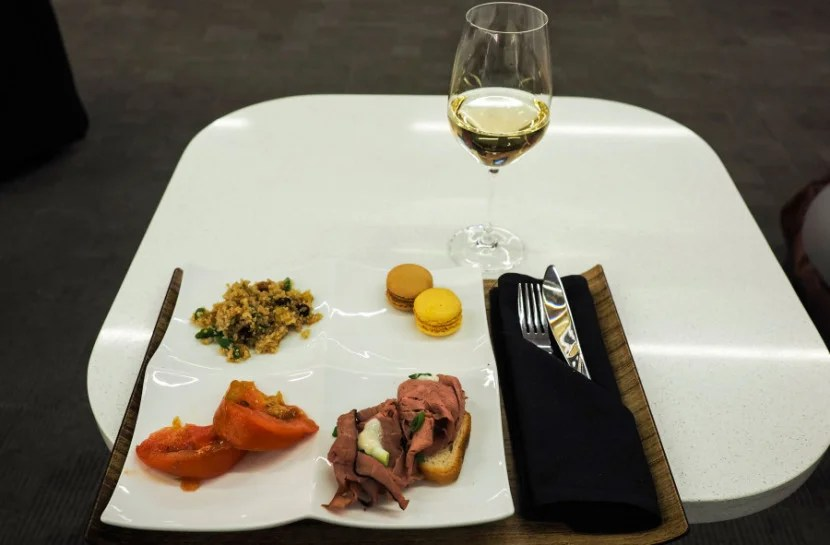 The Delta Sky Club tasting menu included with my Delta One ticket.