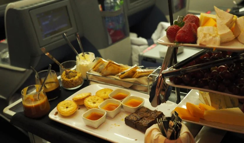 Delta's amazing dessert cart.
